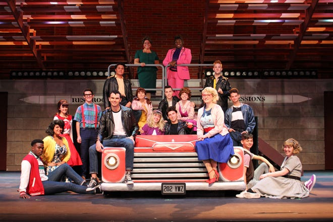 """The cast gets in the spirit of 1959 in the musical """"Grease,"""" on stage at the Henegar Center in downtown Melbourne through Nov. 8, 2020. Visit henegar.org."""