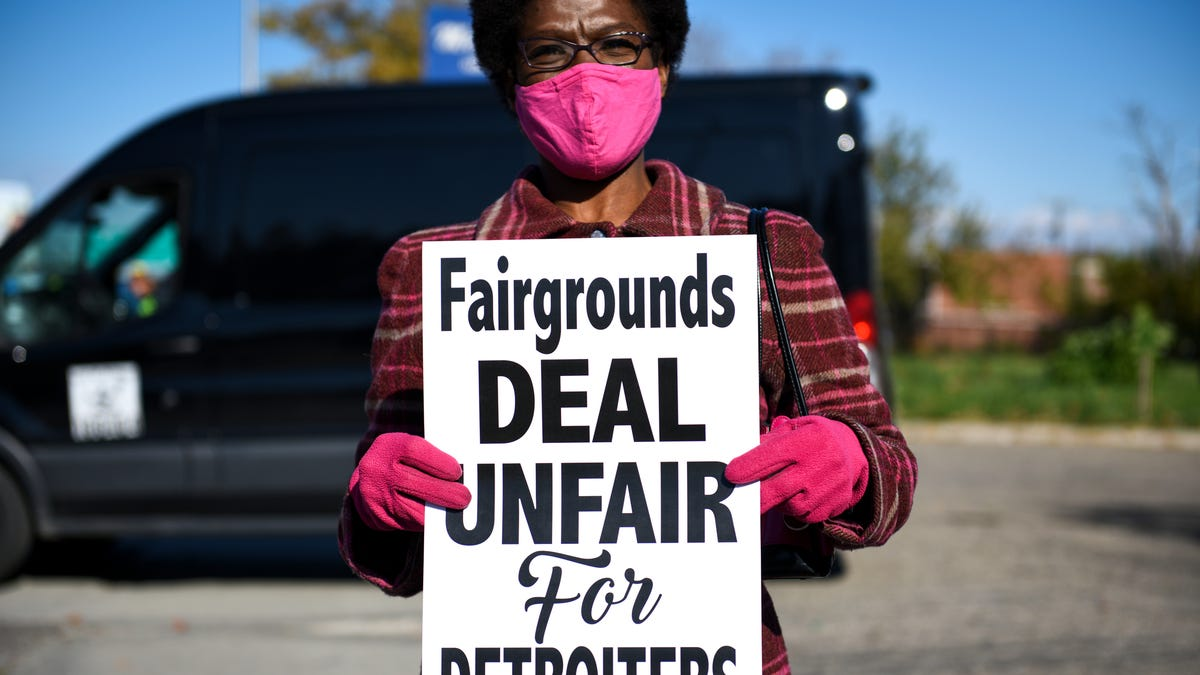 Protests ahead of the City council vote on Amazon coming to the state fairgrounds