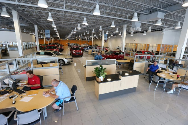 Matick Automotive Group Chevrolet store showroom.