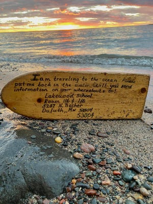 Lynn and Mike BeBeau found a little wooden boat on the shores of Lake Superior, 27 years after it was launched by teachers in Minnesota.