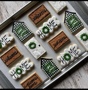 Sweets by Jen owner decorates cookies for all occasions, including housewarming parties.