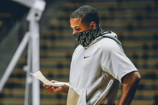 Purdue graduate assistant P.J. Thompson during a men's basketball practice, Monday, Oct. 5, 2020 in West Lafayette.