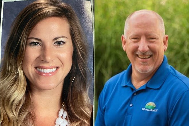Amanda Redmon, left, and Pat Hickner, right, are running for the District 4 seat on the Carroll Consolidated School Corp. board.