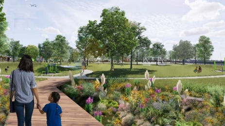 An improved park at West Melvina and North 29th streets  is among the projects outlined in a new city plan for part of Milwaukee's north side.