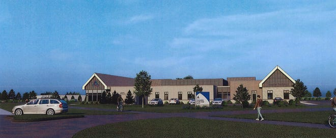 This rendering shows Ascension's nearly 30,000-square-foot clinic from North Port Washington Road.