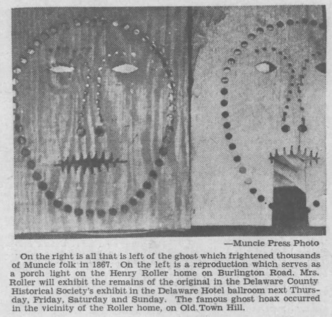 """A Muncie Evening Press report from May 1937 discussed """"the famous ghost hoax"""" from 1867."""