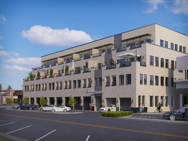 A rendering of The Pearl building in downtown Birmingham.