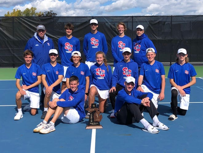 The St. Clair boys tennis team placed third in last weekend's Division 2 state finals, its best finish in school history.