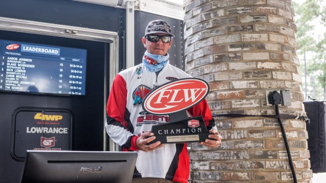 Shreveport angler Aaron Johnson won the FLW's Toyota Series Southwestern Division bass event on Sam Rayburn over the weekend