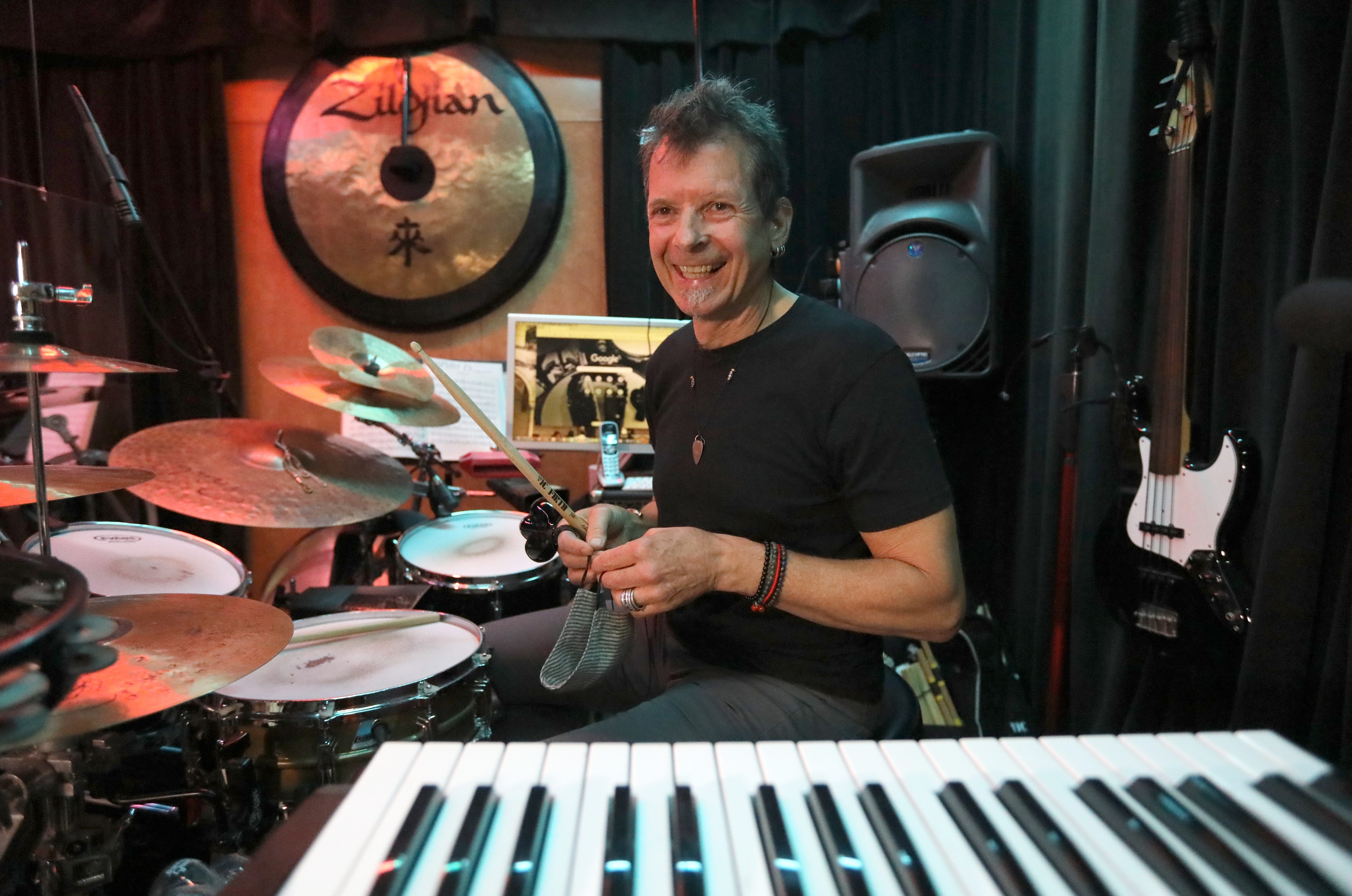 Ed Bettinelli at his Art of Drumming studio in Yonkers.