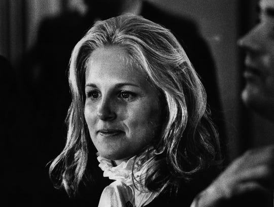 Jill Biden at the Hotel duPont receiving line Feb. 21, 1978.