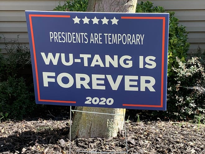 Wu-Tang yard signs are popping up all over the region, particularly in the suburbs. The signs are available on Amazon and other sites and have drawn some criticism for being tone deaf in such a pivotal election cycle.