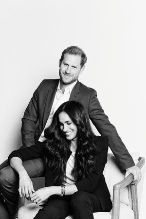 Le prince Harry et la duchesse Meghan de Sussex, sur une photo publiée à l'occasion de la comparution de TIME100 Talk, le 20 octobre 2020.