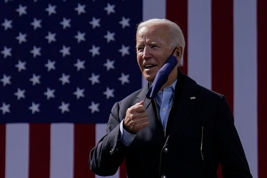 Democratic presidential candidate Joe Biden in Durham, North Carolina.