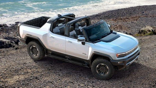"GM's first all-electric ""supertruck"" Hummer EV."