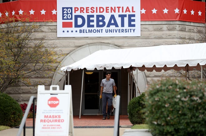 Preparations are underway in Nashville for the next presidential debate.