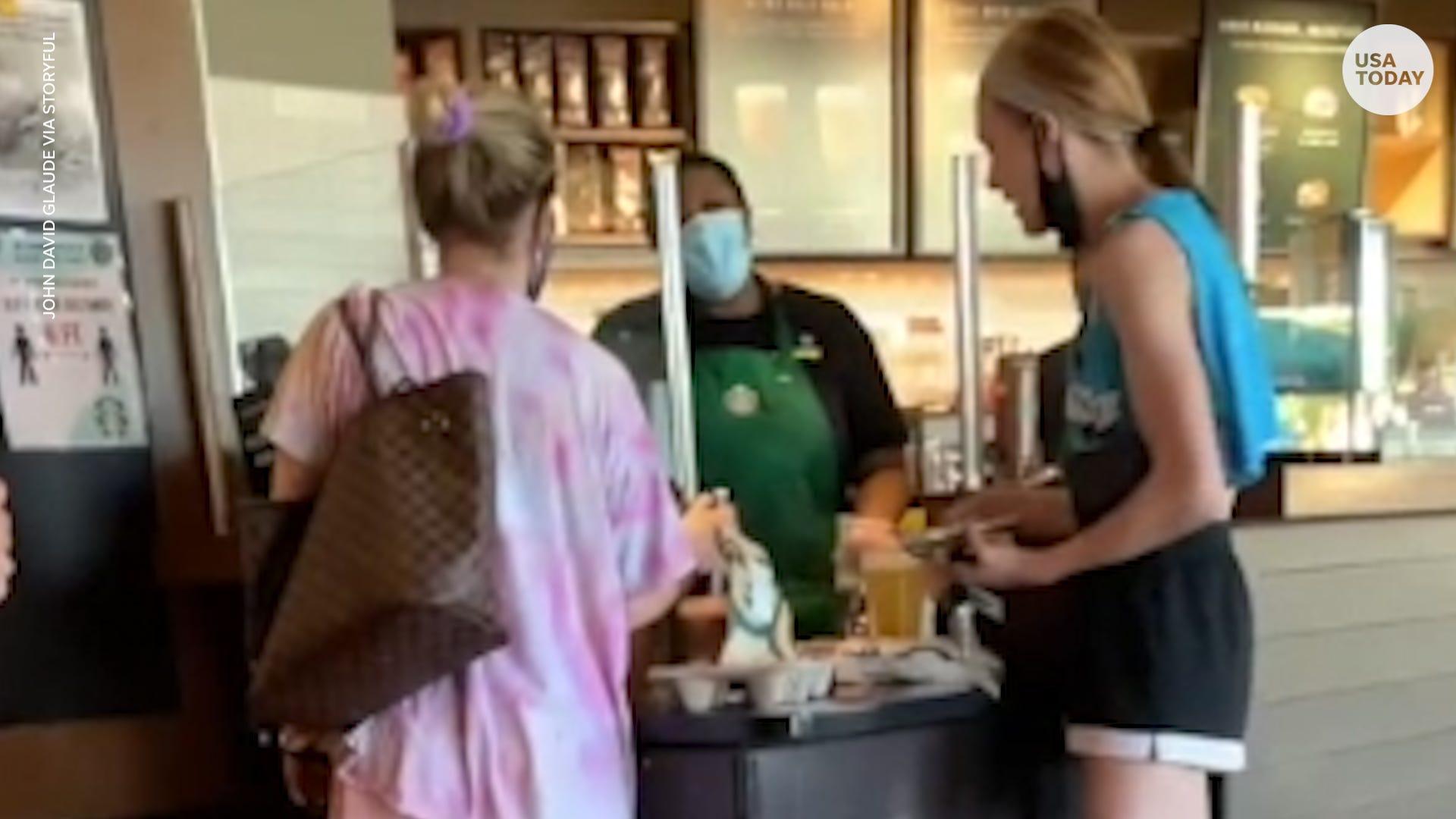 Customer goes on profane tirade, refuses to wear mask in California Starbucks