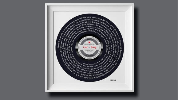 Best gifts under $30: Song lyric print