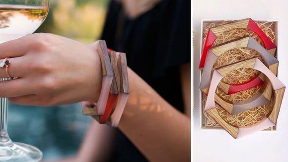 Best Wine Gifts 2020: Olive and Poppy Wine Barrel Bracelets