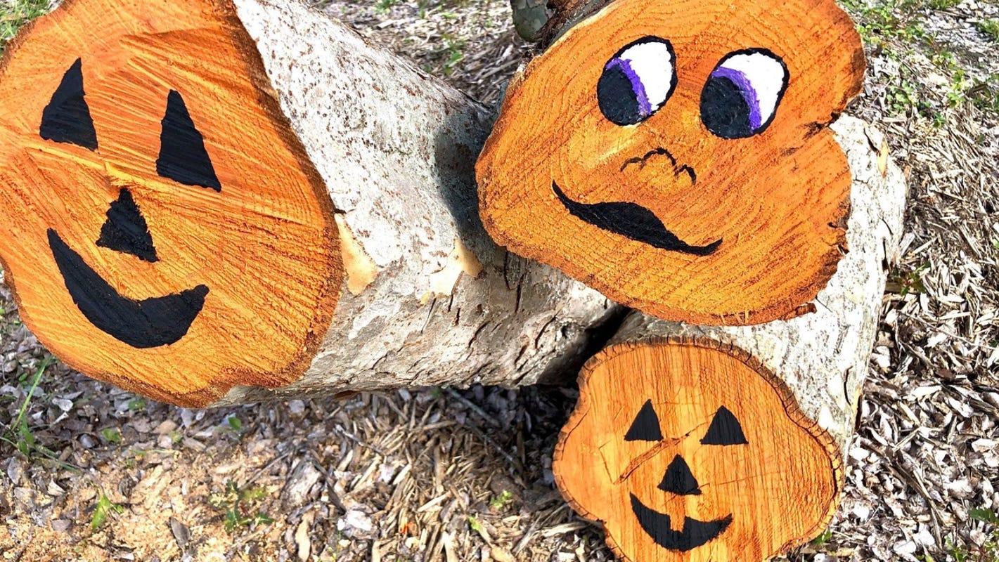 From stumps to 'stumpkins': Louisiana city turns hurricane damage into Halloween decorations
