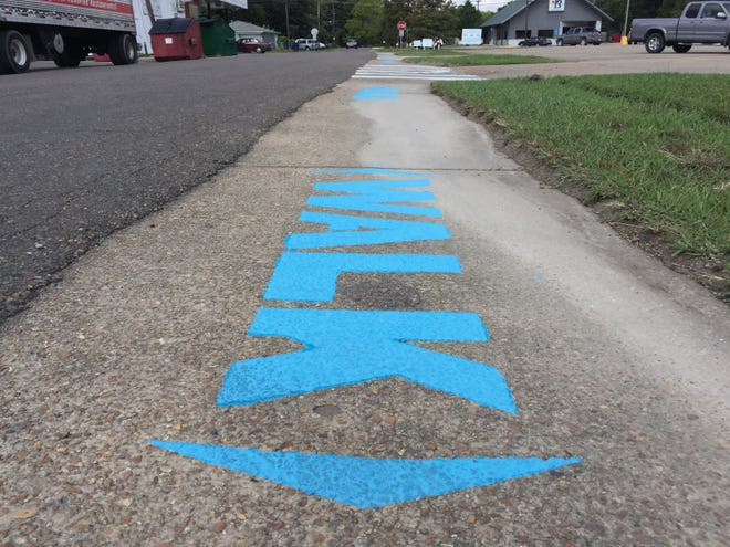 A Complete Streets demonstration project completed in Madison Parish in 2017 illustrates simple maintenance improvements that could enhance walkability near a popular shopping center.