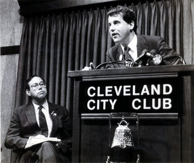 Thirty years ago this week, Democrat incumbent Sherrod Brown and Republican Bob Taft debated at the Cleveland City Club prior to the election for Ohio secretary of state. Taft, who later went on to become Ohio governor, won the 1990 race. Brown now is a U.S. Senator.