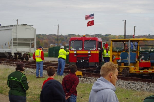 "Last year's Toys for Tots ""Year Ender"" event in Rittman featured railroad track inspection car rides. The event will be a casual car show at Creston Community Park this year."