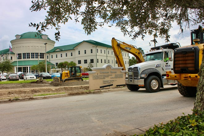 Construction at the government services building parking lot was completed early, according to a Flagler County release.