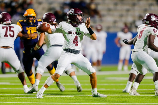 Sherman's Tate Bethel and the Bearcats host Wylie East to open District 7-5A (I) play on Friday night.