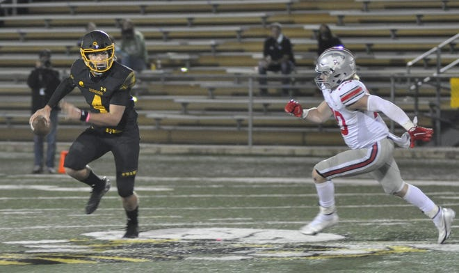Denison quarterback Caleb Heavner and the Yellow Jackets will look to end a two-game losing streak when they travel to Rock Hill in District 7-5A (II) action on Friday.