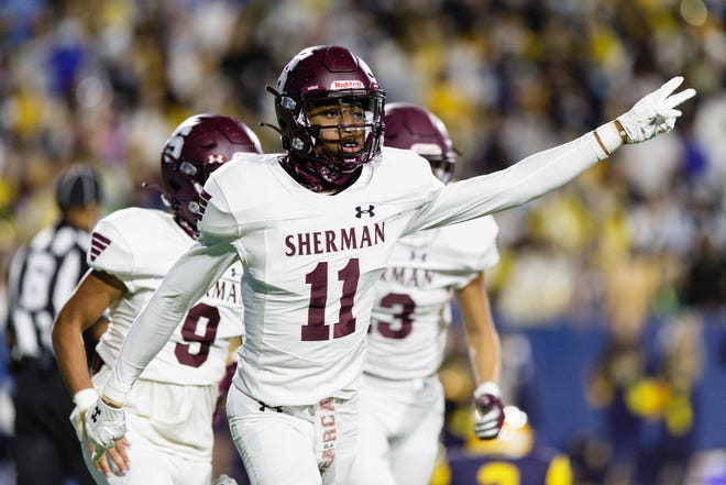 Sherman senior cornerback Braiden Speed and the Bearcats kick off District 7-5A (I) play by hosting Wylie East on Friday.