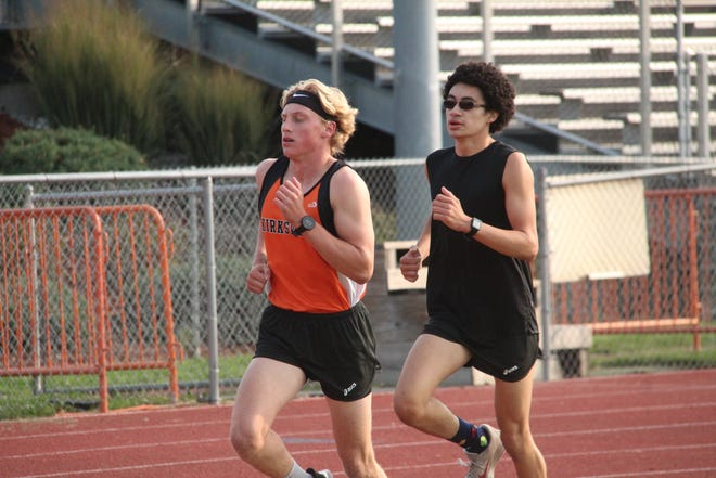Daily Express file photo of Kirksville's Dominic Cahalan, left, and Kevin Crooks, right.