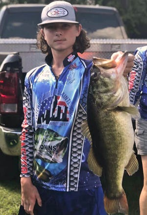 Jarred Fields, 14, an eighth-grader at Lake Gibson Middle School, had 10.54 pounds and a big bass weighing 6.45 pounds to win the Middle School division of the Lakeland Junior Hawg Hunters tournament on Oct. 17 at Lake Marion.