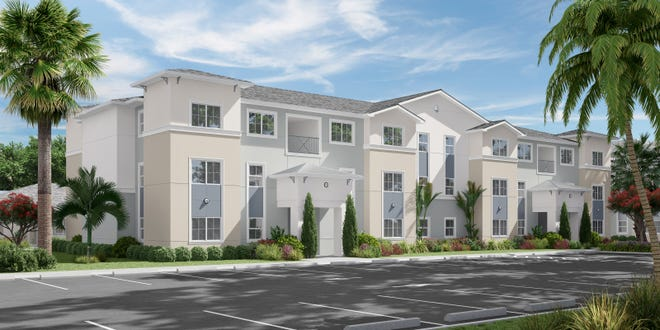 Lakeland commissioners approved setting aside $460,000 to support a proposed affordable housing development, Swan Landing, as artistically pictured here, that would bring 88 multi-family units to Griffin Road. Tampa-based developer, Blue Sky Communities, hopes to start construction in 2021.