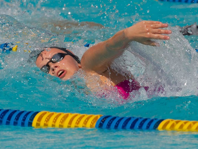 Lakeland High School's Lutnya Bogdanova qualified for the state meet in two events.