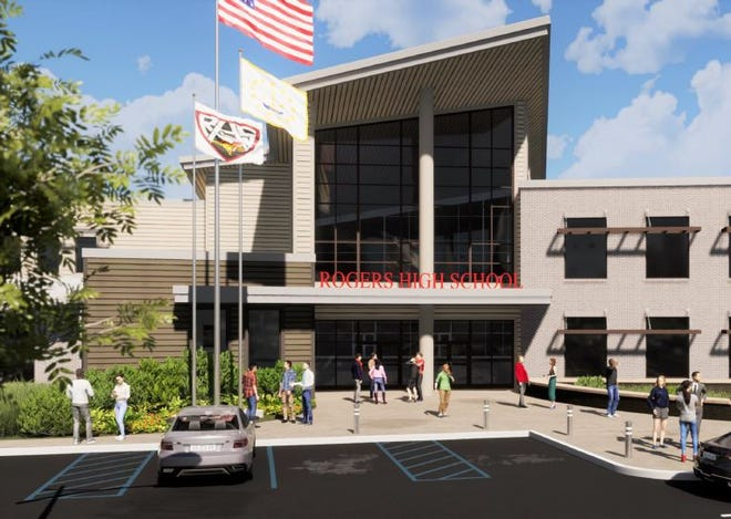 This Newport Public Schools rendering shows what the new Rogers High School would look like