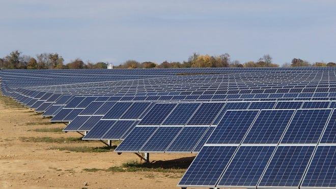 A handout photo from Renewable Management Services shows a solar farm. The company plans a $100 million solar farm near Dunnellon.