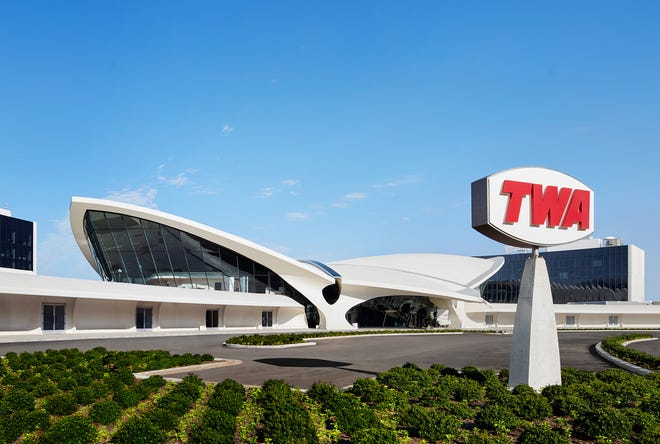The iconic Eero Saarinen-designed Trans World Airlines Flight Center has been transformed into the TWA Hotel at John F. Kennedy Airport in New York City.