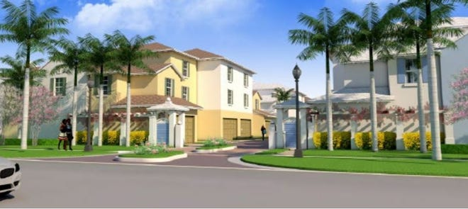 The Delray Beach Housing Authority is moving ahead with plans to build Island Cove, a community of 54 apartments near Southwest Eighth Street and Southwest 12th Avenue. This artist's rendering shows the proposed view from Southwest 13th Street.