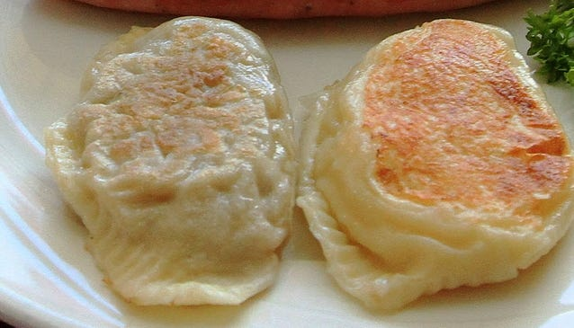 Potato and cheese pierogi, among other food items, will be offered for take-out only at the Polish Food Festival being held Fri. and Sat., Oct. 23-24, at Blessed Trinity Parish, Fall River.