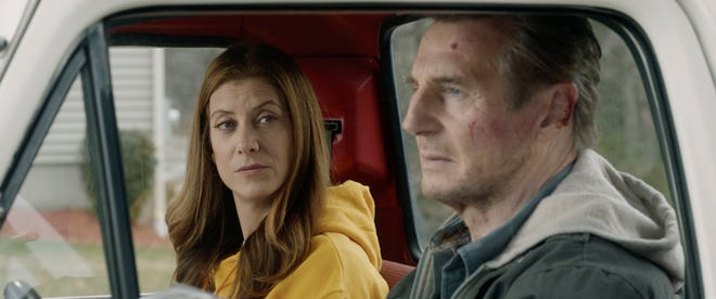 "Kate Walsh and Liam Neeson star in ""Honest Thief."""