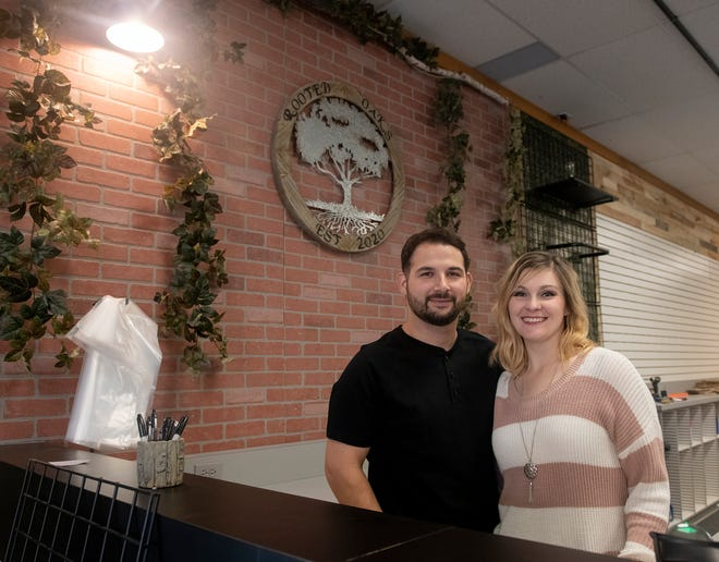Rooted Oak owners David and Sara Gehris plan to open their shop, a business incubator for small businesses, Nov. 5.