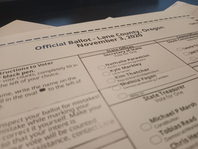 Lane County Nov. 3, 2020 general election ballot