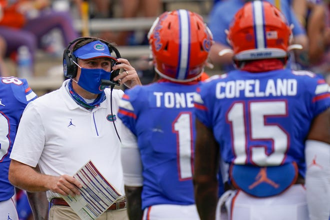 Florida coach Dan Mullen said during his Zoom session with the media that he isn't getting into how close to full strength the Gators will be as they return to practice Monday.