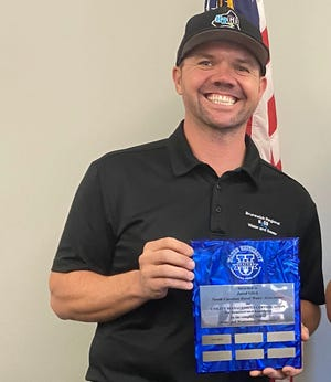 North Carolina American Water Works Association and the North Carolina Water Environment Association named Brunswick Regional Water and Sewer H2GO's Water Superintendent Jared Glick the Water Distribution Operator of the Year.