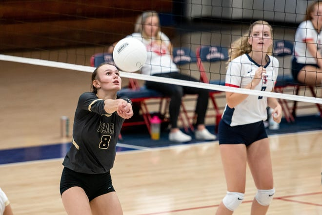 The reigning Best of 910Preps Volleyball Player of the Year, Gray's Creek junior Kylie Aldridge (8) will look to make it back-to-back MVP seasons in the Patriot 4-A/3-A Conference.