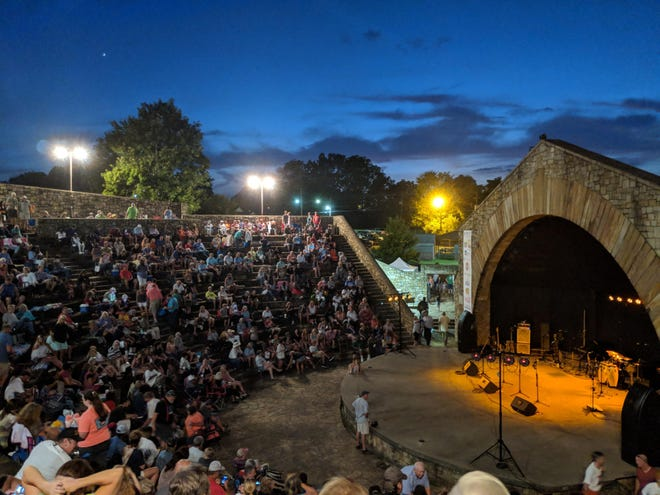 Patrons fill the Mort Glosser Amphitheatre before a Summer Concert Series event in a file photo from 2018.