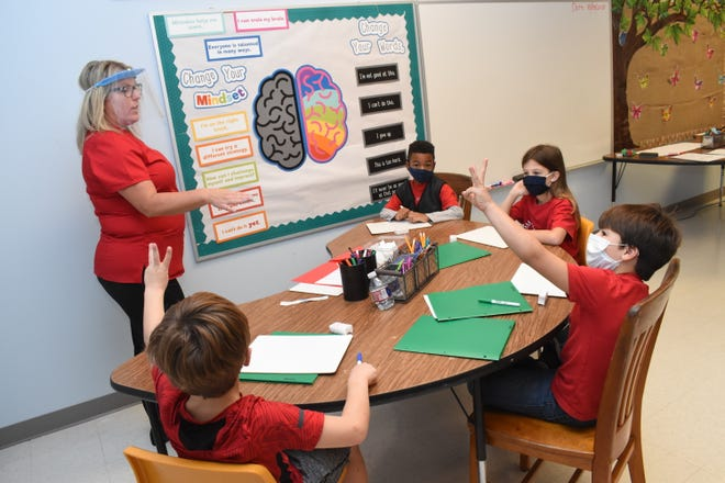 """Dyslexia affects one in five individuals and it's the number one reason why students fare poorly on national standardized tests,"" said Yvette Blanchard (far left), a dyslexia specialist from Lafayette, and owner of The Reading Center in Lafayette. St. Frances Cabrini School recently partnered with The Reading Center and opened up a center in the school."