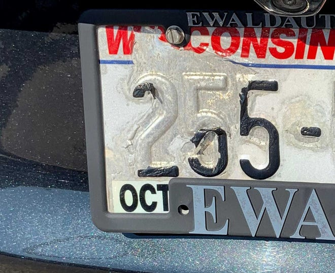 Motorists with an illegible license plate can be fined $150.10.