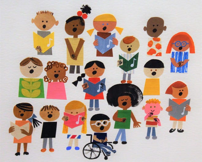 "Children of all kinds mix in Christian Robinson's picture book ""Just in Case You Want to Fly."""